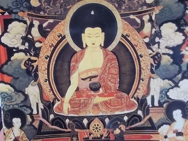 チベット仏教 釈迦成道 仏画