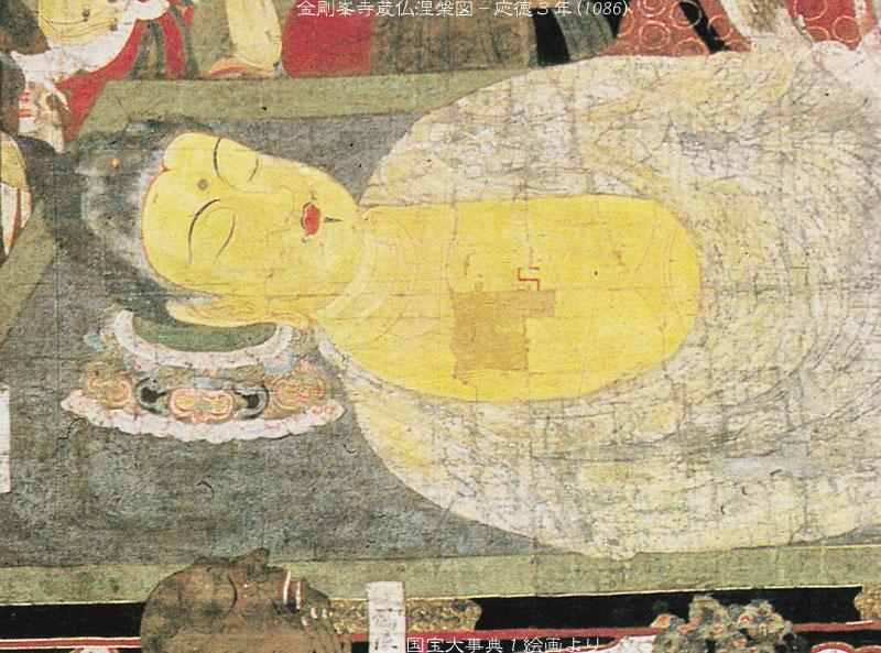 釈迦 涅槃図(和歌山県 高野山 金剛峯寺)